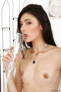 Impressive Black Haired Princess Enjoys A Sex Toy