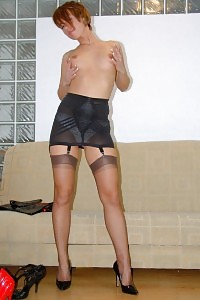 Stunning Kelly Dee Strips Her Good Fitting Dress And Start Flashing Her Stockings