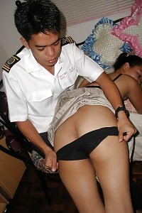 Hot Asian Princess Rises Up Her Miniskirt And Take Off Her Undies To Get Hand Scourged In Her Arse