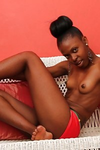 Black Princess Tinley Strips On The Bench As She Uncover Her Naughty Legs And Tight Pussy