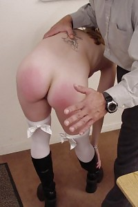 Sinful Vixen Gets Punished By Her Boner Professor With Lots Of Bloody Hot Hand Spanking